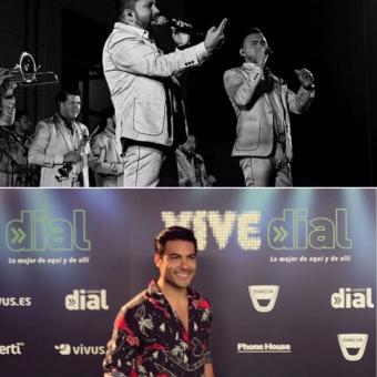"""El cantante Carlos Rivera y la agrupación sinaloense Banda El Recodo interpretan en dueto """"Maldito miedo"""", tema que forma parte de la trama en la cinta """"Me gusta, pero me asusta""""."""
