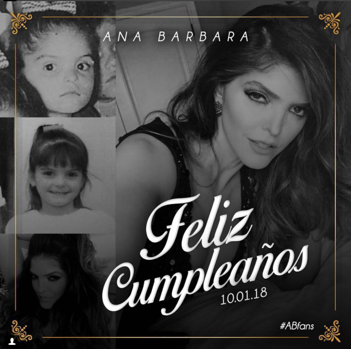 Mira quien felicitó a Ana Bárbara por su cumpleaños